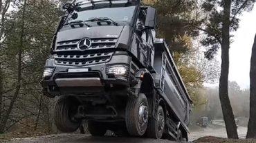 Mercedes-Benz Arocs review at MB Test Centre Sauberg